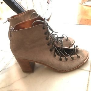 Jeffrey Campbell lace-up 'Cors Bootie' size 10